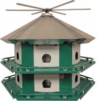 TM12 Purple Martin Mini Castle Complete With 14' Pole (USA Made)