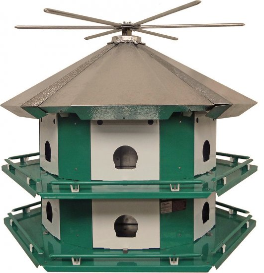 TM12 - Purple Martin Mini Castle With 14' Pole (USA Made) - Click Image to Close