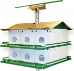 MSS12R - Purple Martin House Complete W/ 14' Pole (Made In USA)