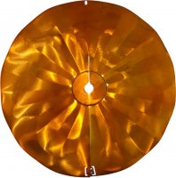 SB6C - Pole Mount Disk Squirrel Baffle - Copper Tint - USA