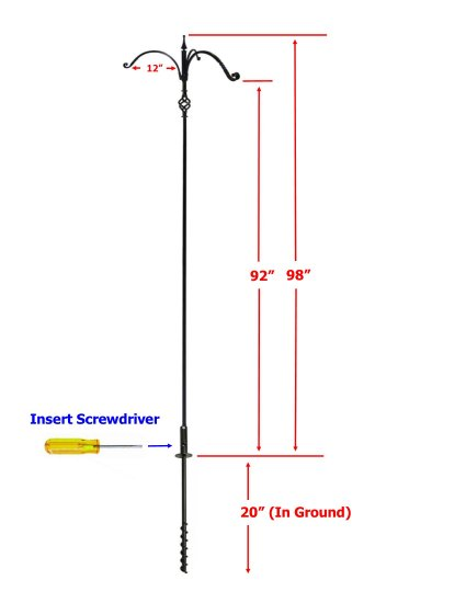 FP5TLM3B - Premium 6 Pc. Feeder Pole with Twist In Socket - USA - Click Image to Close
