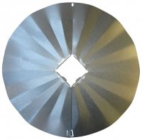 SB7GLV - 4X4 Disk Squirrel Baffle - Galvanized Finish - USA