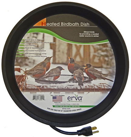 BA1HSL - Heated Bird Bath - Clamp Mount - Click Image to Close